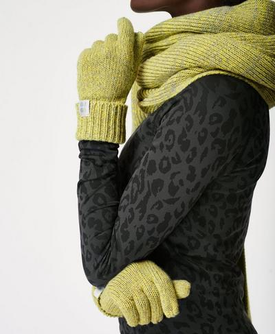 Texture Merino Knitted Gloves, Charcoal Grey | Sweaty Betty