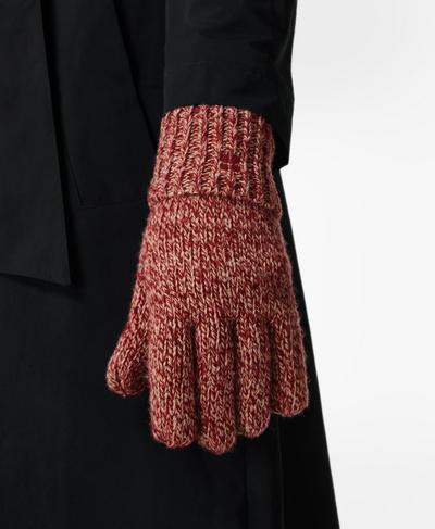 Texture Merino Knitted Gloves, Falu Red | Sweaty Betty