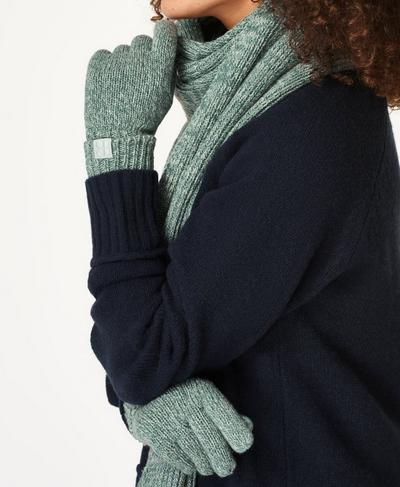 Texture Merino Knitted Gloves, Tile Green | Sweaty Betty