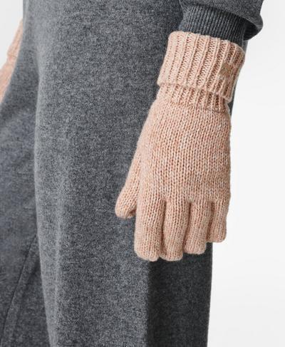 Texture Merino Knitted Gloves, Vanilla White | Sweaty Betty