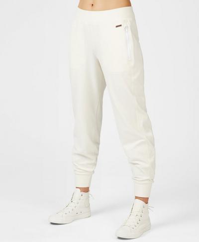 Garudasana Luxe Trousers, Lily White | Sweaty Betty