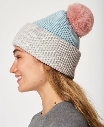 Colourblock Merino Bobble Hat, Multi | Sweaty Betty