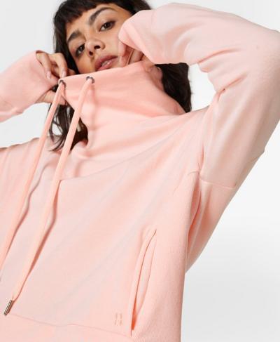 Harmonise Luxe Fleece Sweatshirt, Antique Pink | Sweaty Betty