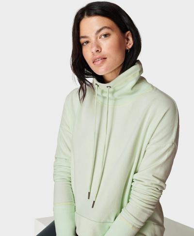 Harmonise Luxe Fleece Sweatshirt, Glacier Green | Sweaty Betty
