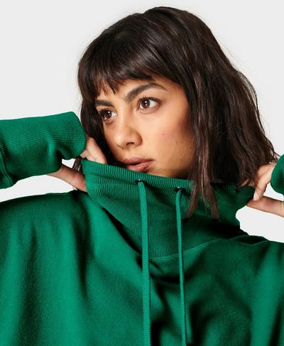 Harmonise Luxe Fleece Sweatshirt, Maritime Green | Sweaty Betty