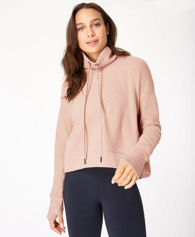 Harmonise Luxe Fleece Sweatshirt, Misty Rose Pink | Sweaty Betty