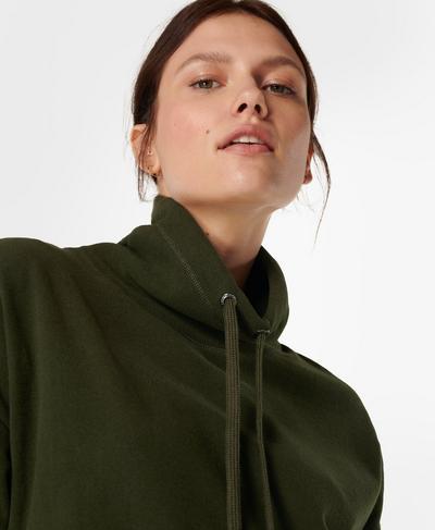 Harmonise Luxe Fleece Sweatshirt, Mountain Green | Sweaty Betty