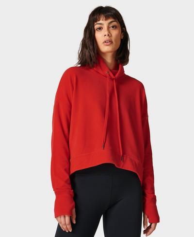 Harmonise Luxe Fleece Jumper, Pentas Red | Sweaty Betty