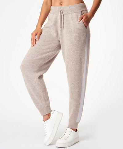 Recline Wool Pants, Cloud Grey Marl | Sweaty Betty