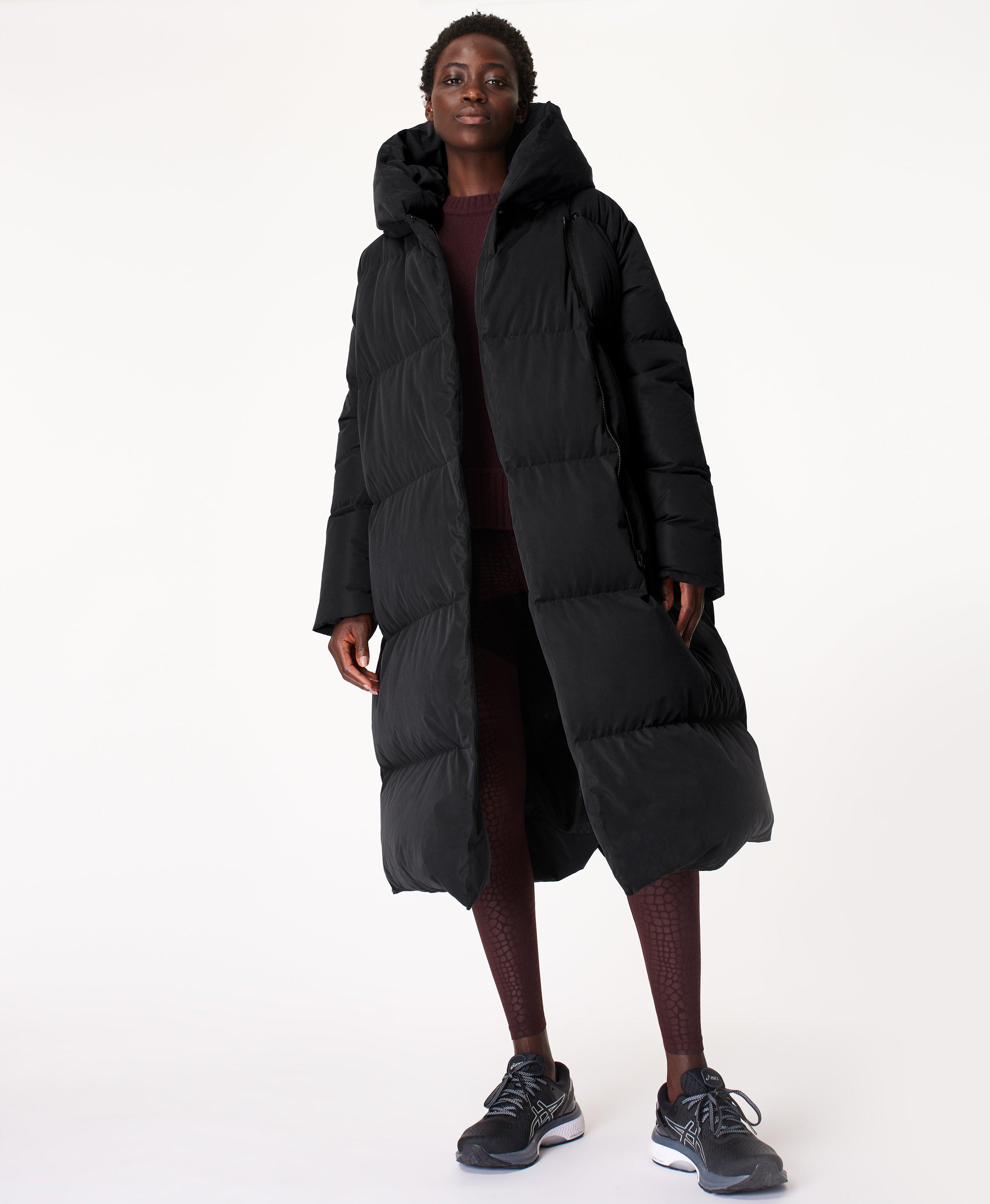 Cocoon Down Puffer Wrap Coat