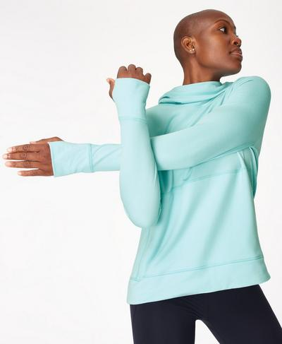 Galvanise Run Hoodie, Blue Lagoon | Sweaty Betty