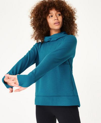 Galvanise Run Hoody, Teal Blue | Sweaty Betty