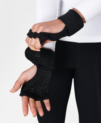 Workout Grip Gloves, Black | Sweaty Betty