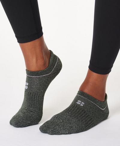 Christmas Trainer Liner 3 pack, Dark Forest Green | Sweaty Betty