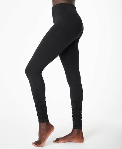 All Day Ruched Hem Leggings, Black | Sweaty Betty