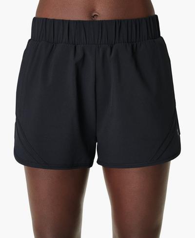 "Track and Field 2"" Running Shorts, Black | Sweaty Betty"