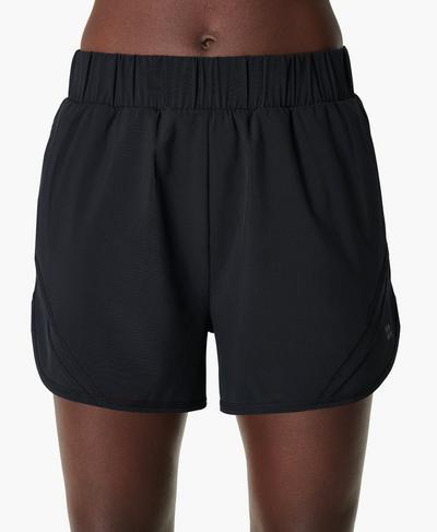 "Track and Field 3.5"" Running Shorts, Black | Sweaty Betty"