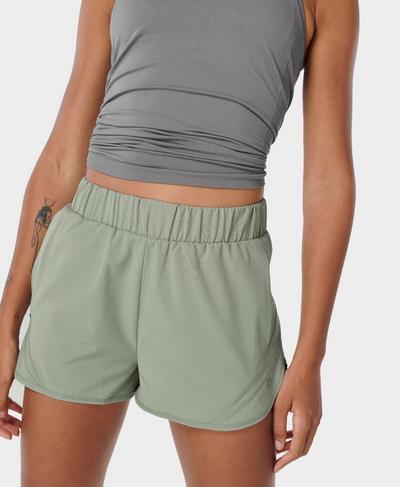 "Track and Field 2"" Running Shorts, Mirage Green | Sweaty Betty"