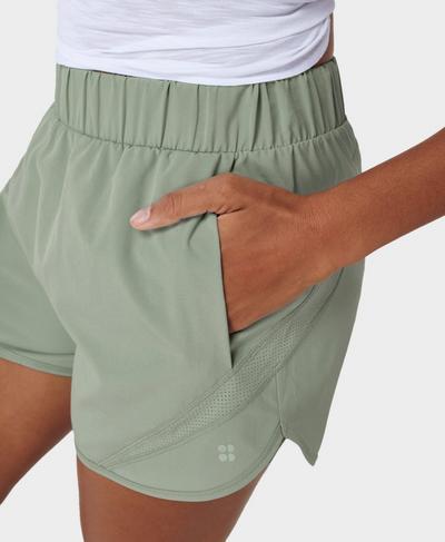 "Track and Field 3.5"" Running Shorts, Mirage Green | Sweaty Betty"