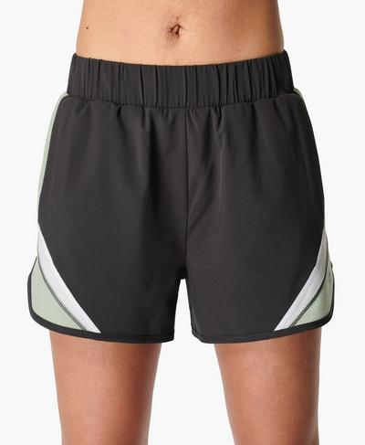 Track and Field Laufshorts 9 cm, Slate Grey | Sweaty Betty