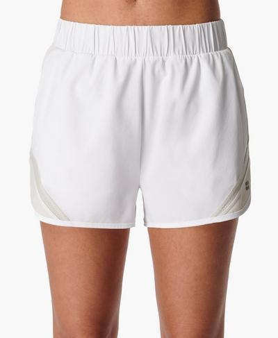 "Track and Field 2"" Running Shorts, White | Sweaty Betty"