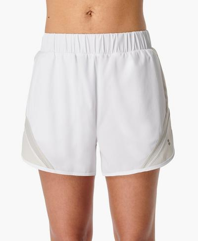 "Track and Field 3.5"" Running Shorts, White | Sweaty Betty"