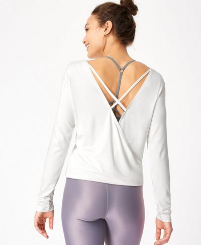 Tranquil Yoga Long Sleeve Top, Flint White | Sweaty Betty