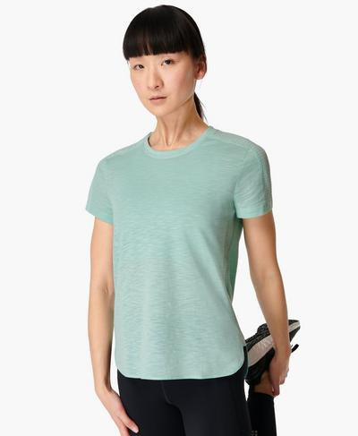 Breeze Running T-shirt, Algarve Green | Sweaty Betty