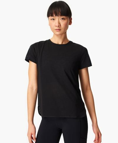 Breeze Running T-shirt, Black | Sweaty Betty