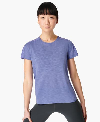 Breeze Running T-shirt, Cornflower Blue | Sweaty Betty
