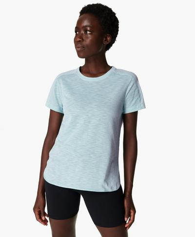 Breeze Running T-shirt, Ice Blue | Sweaty Betty
