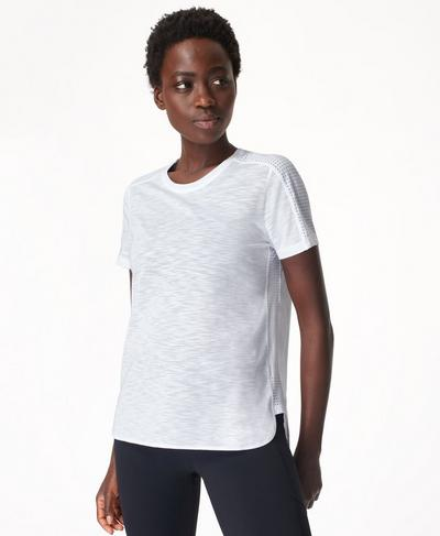 Breeze Running T-shirt, White | Sweaty Betty