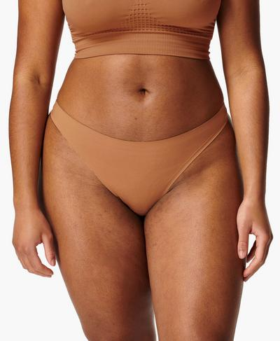 Barely There G-String, Tan Brown | Sweaty Betty
