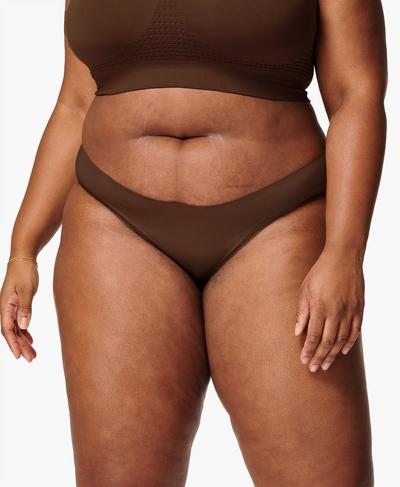 Barely There Briefs, Brown | Sweaty Betty