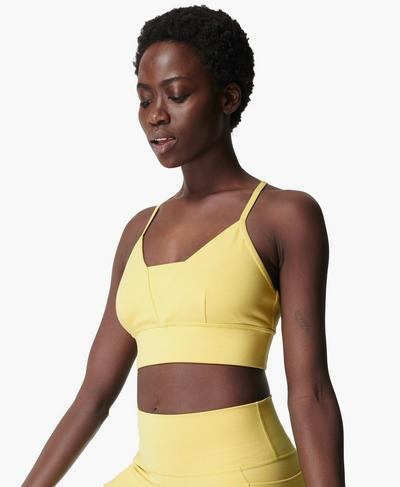 Super Sculpt Bra, Riviera Yellow | Sweaty Betty