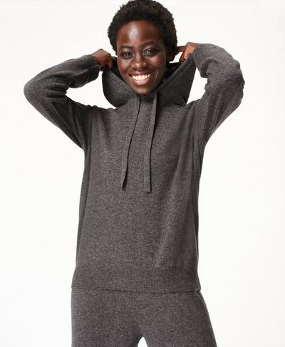 Compose Cashmere Hoodie, Charcoal Grey | Sweaty Betty