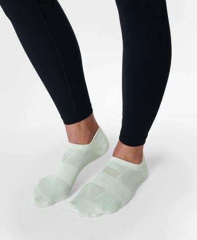 Lightweight Trainer Socks 3 Pack, Glacier Green | Sweaty Betty
