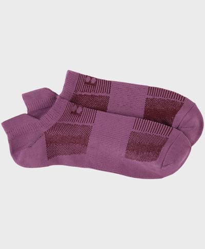 Lightweight Sneaker Socks, Argyle Purple | Sweaty Betty