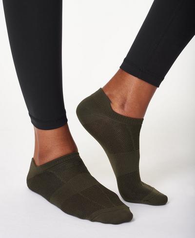 Lightweight Sneaker Socks, Dark Forest Green | Sweaty Betty