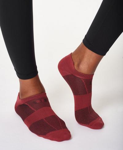 Lightweight Trainer Socks, Renaissance Red | Sweaty Betty