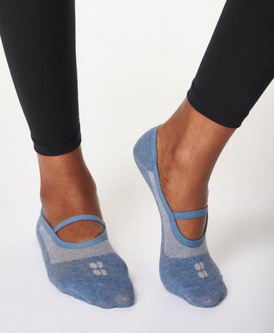 Pilates Sock, Stellar Blue | Sweaty Betty