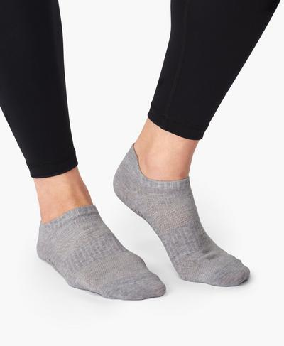 Barre Gripper Socks, Charcoal Grey | Sweaty Betty