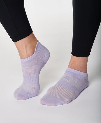 Barre Gripper Socks, Heather Purple | Sweaty Betty