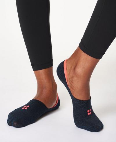 No Show Sneaker Liners, Beetle Blue | Sweaty Betty