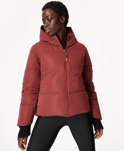 Switch Reversible Puffer Jacket, Fig Red | Sweaty Betty
