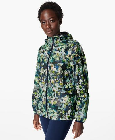 Pack It Up Regenjacke, Green Spring Floral Print | Sweaty Betty
