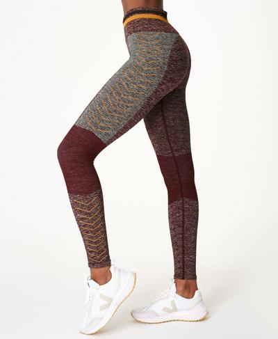 Seamless Roam Leggings, Fig Red | Sweaty Betty