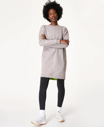 Serene Sweater Dress, Cloud Grey Marl | Sweaty Betty