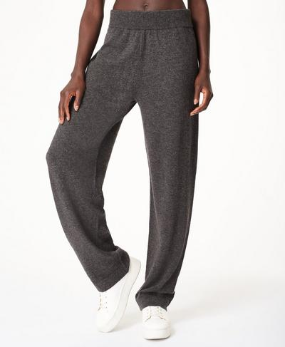 Compose Cashmere Pants, Charcoal Grey | Sweaty Betty