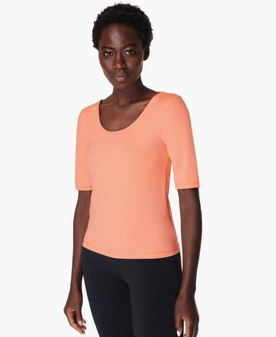 All Day T-shirt, Peach Orange | Sweaty Betty